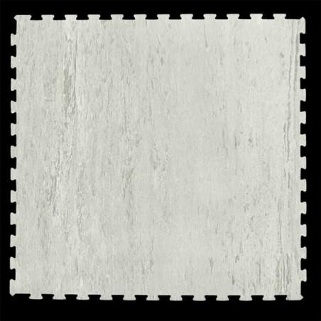 Loseta suelo gimnasio fitness 100x100x1,5 cm color Mármol blanco