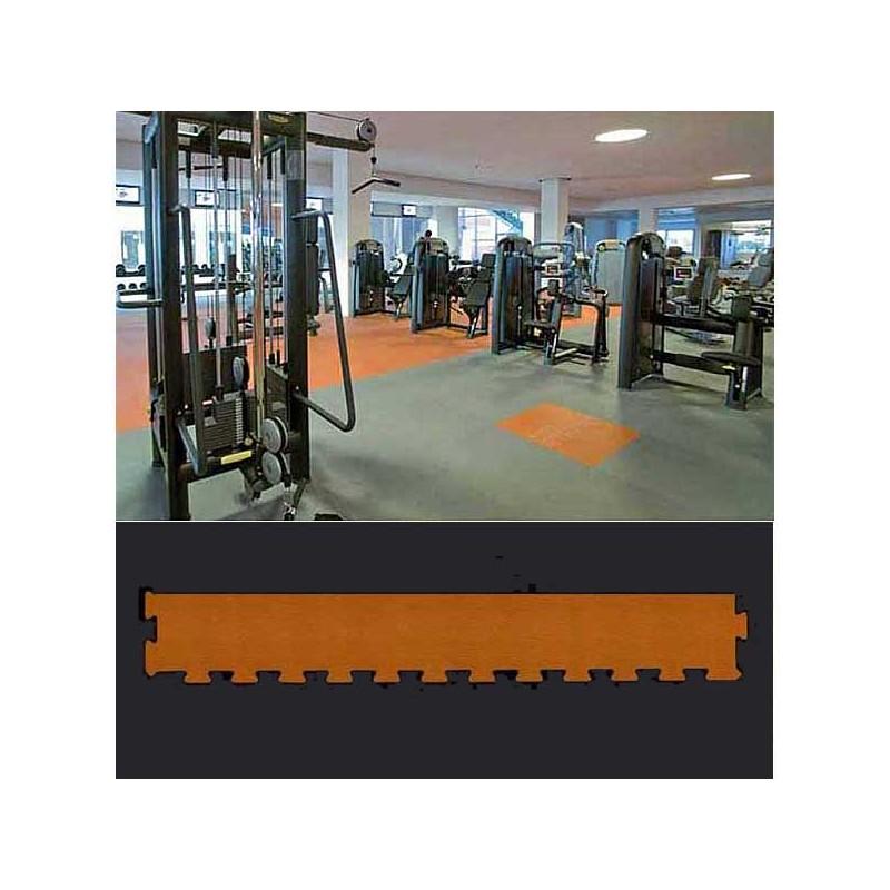Perfil remate o acabado para suelo de gimnasio fitness, cardiovascular y musculación 12x100x1,5 cm