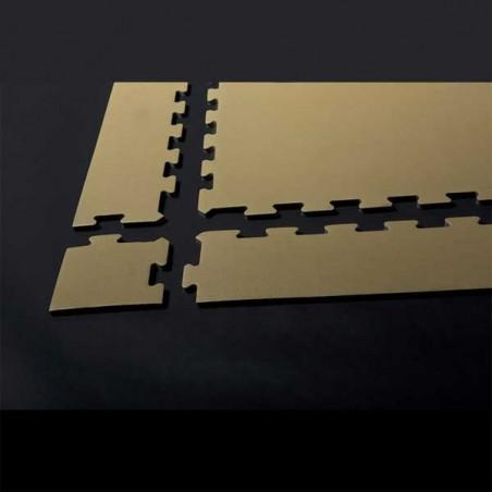 Ensamblaje montaje de perfil remate o acabado para suelo de gimnasio fitness, cardiovascular y musculación 12x100x1,5 cm