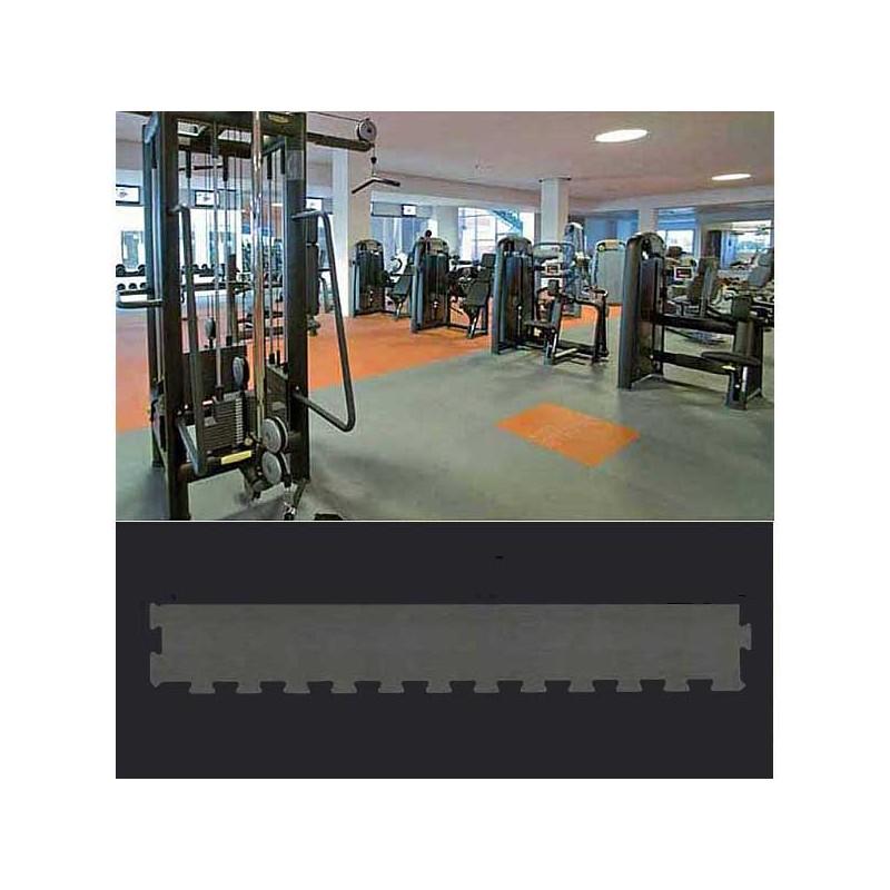 Perfil en forma de cuña remate o acabado para suelo de gimnasio fitness, cardiovascular y musculación 30x100x1,5 cm