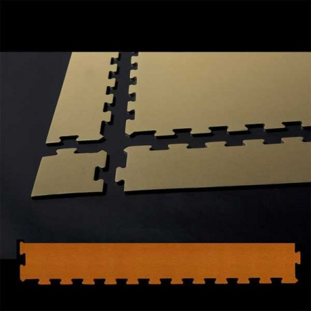 Perfil en forma de cuña remate o acabado para suelo de gimnasio fitness, cardiovascular y musculación 30x100x1,5 cm color Ibiza