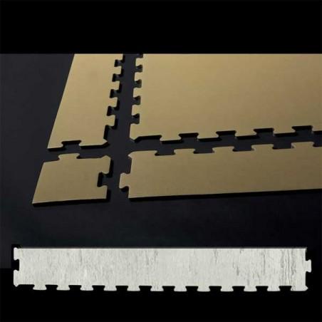Perfil en forma de cuña remate o acabado para suelo de gimnasio fitness, cardiovascular y musculación 30x100x1, cm Mármol Blanco