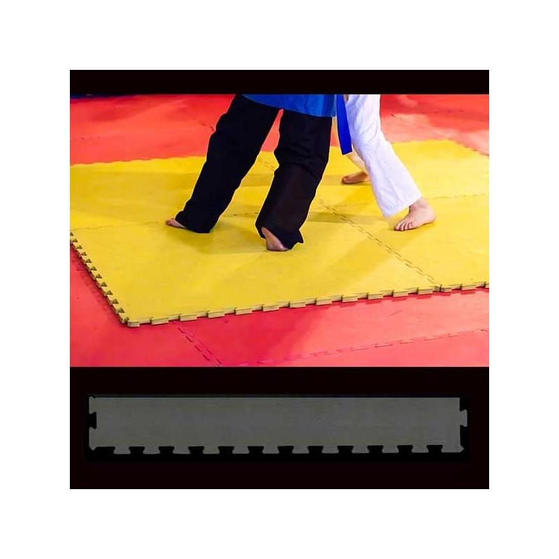 Perfil de acabado en forma de cuña para pavimento suelo o tatami para artes marciales 30x100x2 ó 3 cm