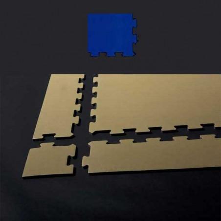 Esquina de remate para suelo gimnasio fitness 12x12x1,5 cm color Azul
