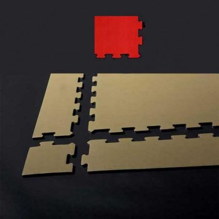 Esquina de remate para suelo gimnasio fitness 12x12x1,5 cm color Rojo