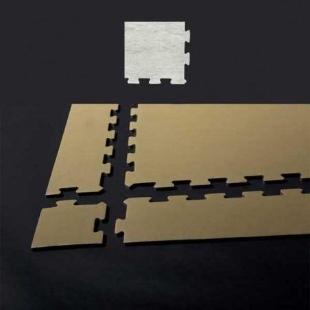 Esquina de remate para suelo gimnasio fitness 15x15x1,5 cm color Mármol blanco