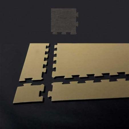 Esquina de remate para suelo gimnasio fitness 15x15x1,5 cm color Mármol gris