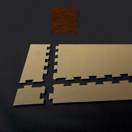 Esquina de remate para suelo gimnasio fitness 15x15x1,5 cm color Wengué