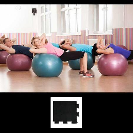Esquina de remate para acabado de suelo gimnasio pilates yoga 12x12x2 cm Negro