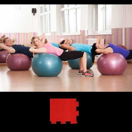 Esquina de remate para acabado de suelo gimnasio pilates yoga 12x12x2 cm Rojo