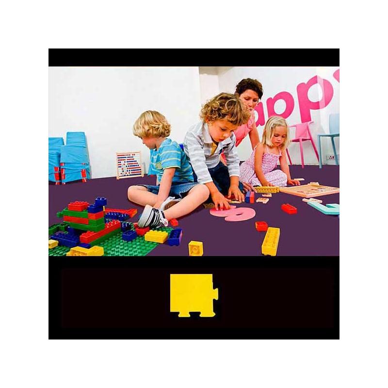 Esquina para remate de suelo en área de juegos infantiles 12x12x2 cm