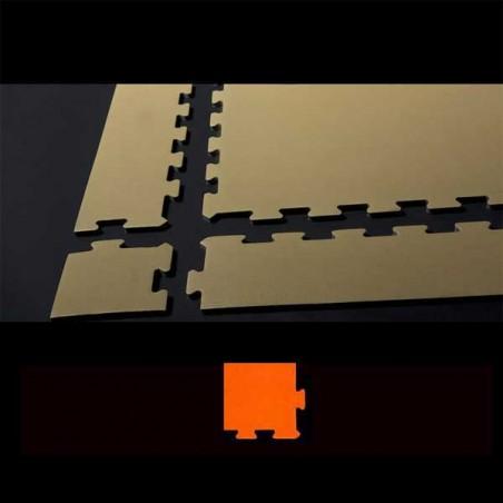 Esquina para remate de suelo en área de juegos infantiles 12x12x2 cm Naranja