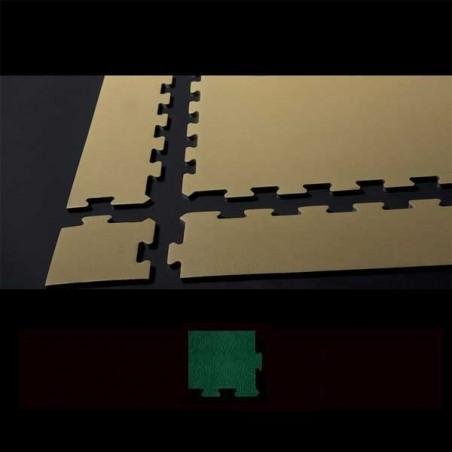 Esquina para remate de suelo en área de juegos infantiles 12x12x2 cm Verde