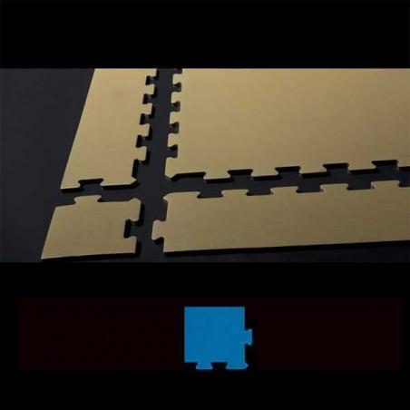 Esquina en cuña para acabado de suelo en área de juegos infantiles 15x12x2 cm Azul