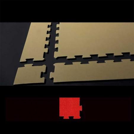 Esquina en cuña para acabado de suelo en área de juegos infantiles 15x12x2 cm Rojo
