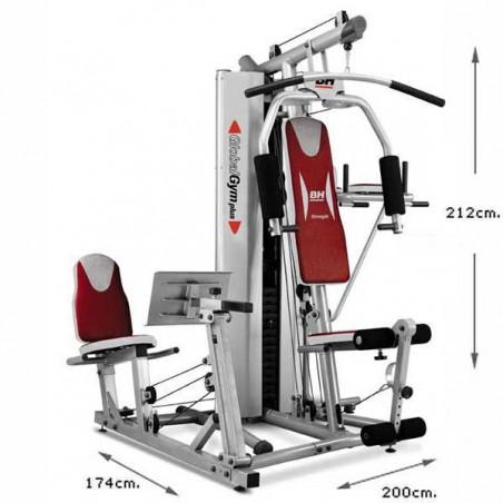 Dimensiones de la estación máquina de musculación para utilización doméstica BH Fitness G152X Global Gym Plus
