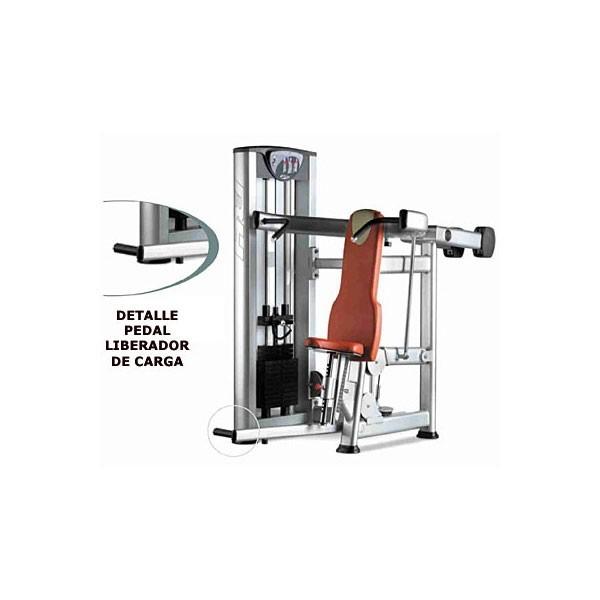 M quina de musculaci n press hombros bh x090 for Maquinas de musculacion