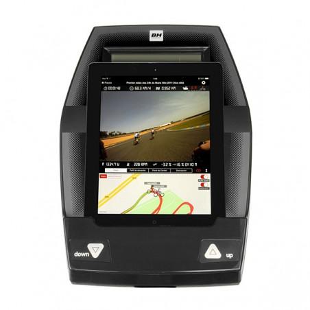 Bicicleta elíptica uso doméstico BH NLS18 Dual con Dual Kit WG2382U monitor con tablet