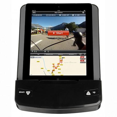 Monitor con tablet montado en la bicicleta estática BH i.Concept Carbon Bike