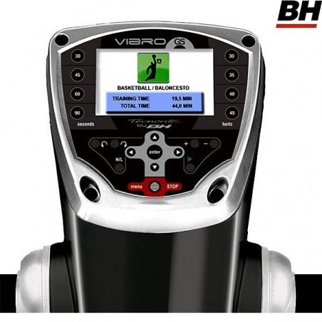 Pantalla baloncesto en el monitor de la Plataforma vibratoria semiprofesional BH Vibro GS SE triplano YV20RS