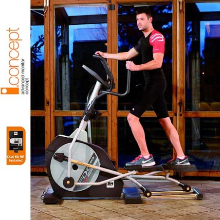 Bicicleta elíptica BH i.Concept i.FDC19 Dual con Dual Kit WG860N para uso doméstico intensivo