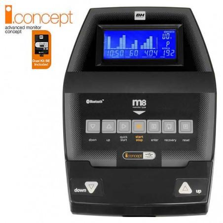 Monitor de serie de la bicicleta elíptica BH i.Concept i.FDC19 Dual con Dual Kit WG860N para uso doméstico intensivo