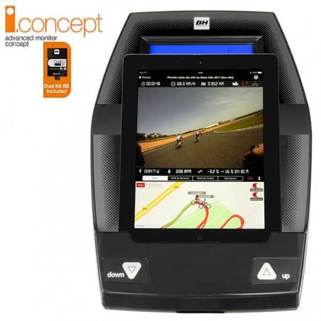 Monitor con tablet de la bicicleta elíptica BH i.Concept i.FDC19 Dual con Dual Kit WG860N para uso doméstico intensivo
