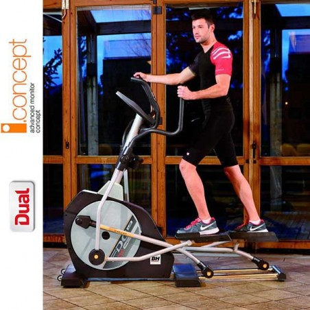 Bicicleta elíptica BH i.Concept FDC19 Dual con Dual Kit opcional G860N para uso doméstico intensivo