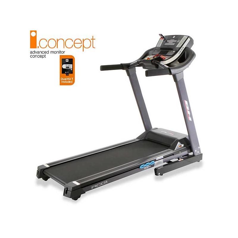 Cinta para andar y correr de uso doméstico regular BH i.RC01 i.Concept con Dual Kit incluido WG6162