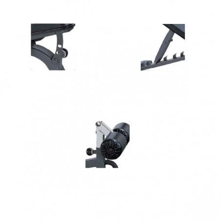 Detalles del banco musculación profesional  con respaldo y asiento regulables Vision ST787