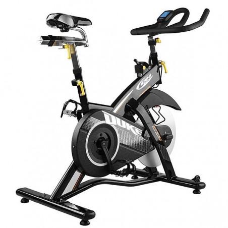 Vista trasera de la bicicleta spinning BH Duke Magnetic H925 para utilización en centros deportivos y gimnasios