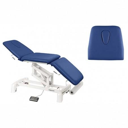 Detalle respaldo cabezal de la camilla eléctrica 3 cuerpos para masaje y terapias Ecopostural C3515T13