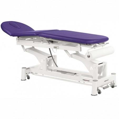 Camilla eléctrica de 3 cuerpos para tratamientos, masajes y terapias Ecopostural C5521T10