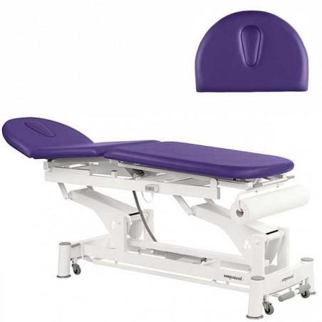 Respaldo de la camilla eléctrica de 3 cuerpos para tratamientos, masajes y terapias Ecopostural C5521T10