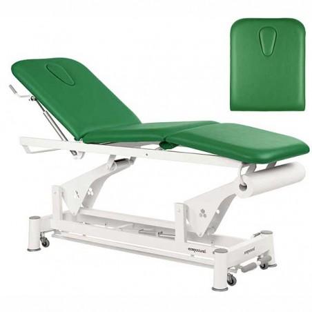 Respaldo de la camilla eléctrica 3 cuerpos Ecopostural C5526T13 para tratamientos, masajes y terapias