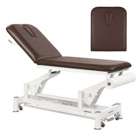 Respaldo de la camilla eléctrica 2 cuerpos Ecopostural C5533T13 para tratamientos, masajes y terapias