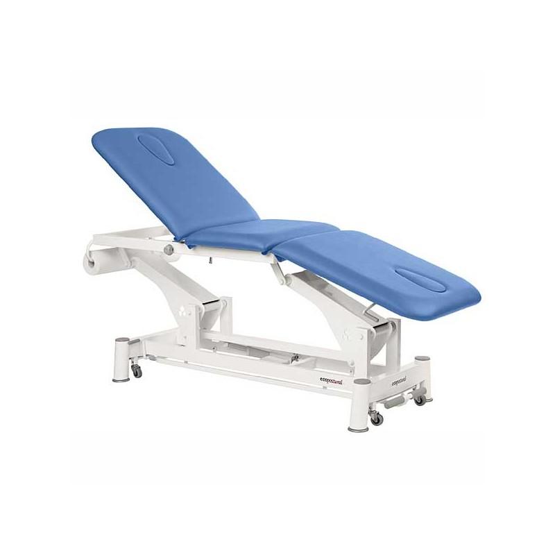 Camilla eléctrica 3 cuerpos Ecopostural C5547T13 con doble hueco facial para tratamientos, masajes y terapias