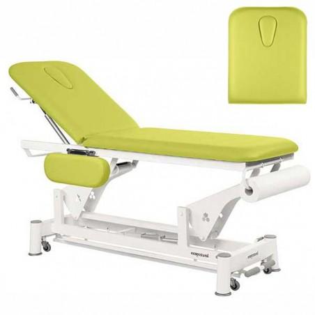 Respaldo de la camilla eléctrica 2 cuerpos Ecopostural C5551T13 para tratamientos, masajes y terapias
