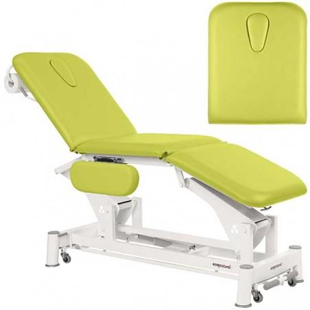 Respaldo de la camilla eléctrica 3 cuerpos Ecopostural C5556T13 para tratamientos, masajes y terapias