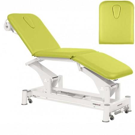 Respaldo de la camilla eléctrica 3 cuerpos Ecopostural C5557T13 para tratamientos, masajes y terapias