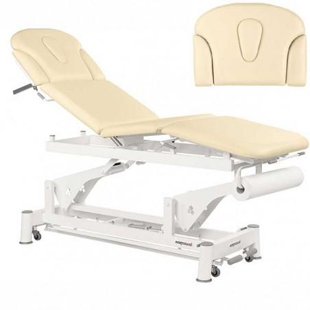 Respaldo de la camilla eléctrica 4 cuerpos Ecopostural C5579T01 para tratamientos, masajes y terapias