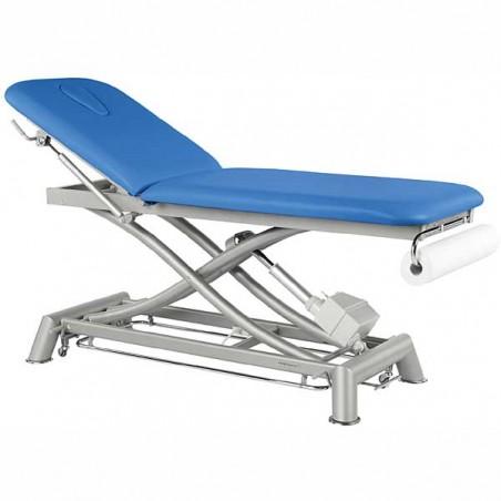 Camilla eléctrica 2 cuerpos Ecopostural C7952T13 estructura tijera para masajes, tratamientos y terapias