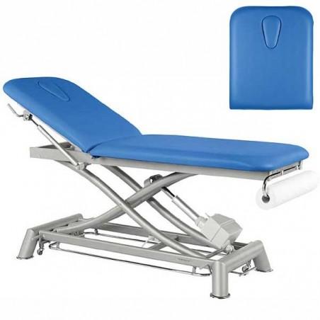 Respaldo de la camilla eléctrica 2 cuerpos Ecopostural C7952T13 estructura tijera para masajes, tratamientos y terapias