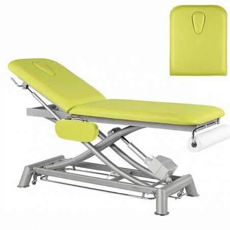 Respaldo de la camilla eléctrica 2 cuerpos Ecopostural C7951T13 para tratamientos, masajes y terapias
