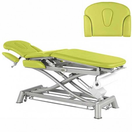 Respaldo de la camilla eléctrica 3 cuerpos Ecopostural C7931T01 para tratamientos, masajes y terapias