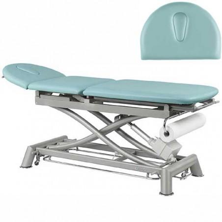 Respaldo de la camilla eléctrica técnica de 3 cuerpos Ecopostural C7910T10 para tratamientos, masajes y terapias