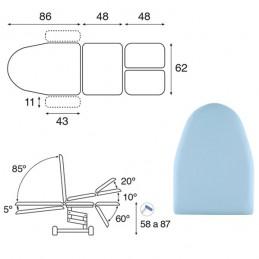 Camilla hidráulica multifuncional podología 3 cuerpos C3767