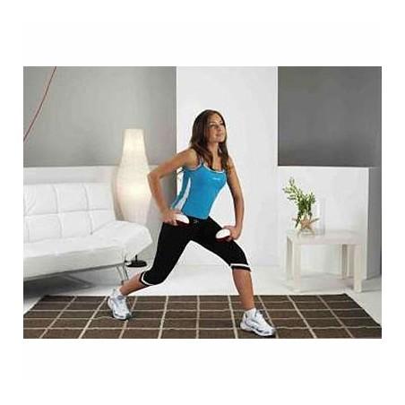 Ejercicio de piernas con las mancuernas vibradoras Tecnovita by BH V-Bell YV05