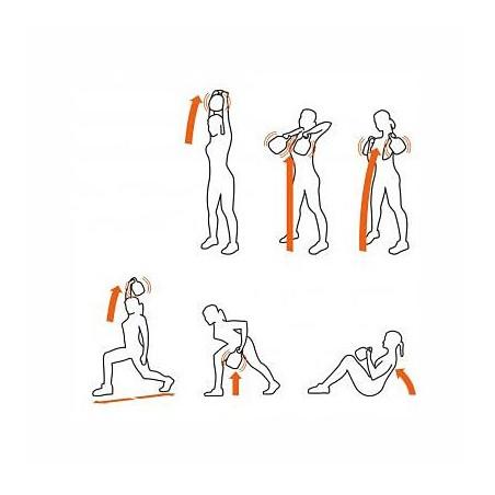 Tabla de ejercicios con pesas de vibración Tecnovita by BH Axia Vibro Kettlebell YV01