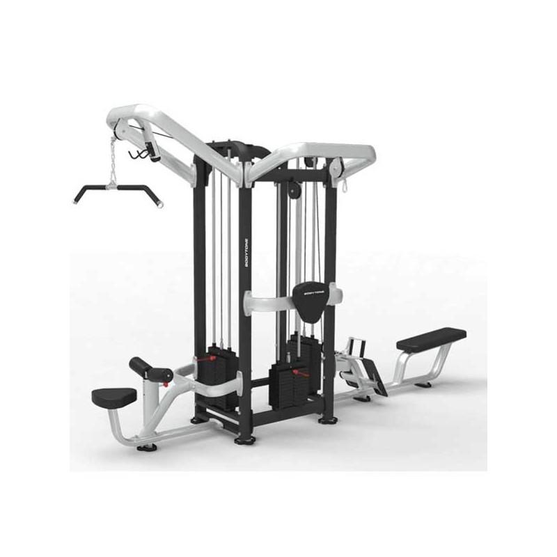 Máquina musculación profesional cruce tres estaciones